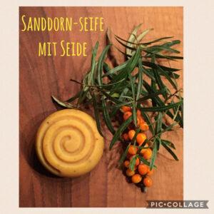 Sanddornseife mit Seide